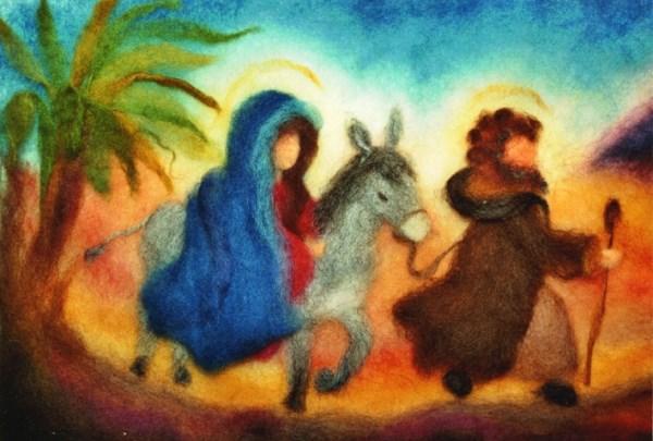Postcard: Mary and Joseph
