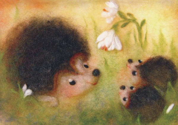 Postcard: Hedgehog