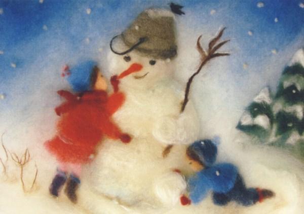 Postcard: Snowman