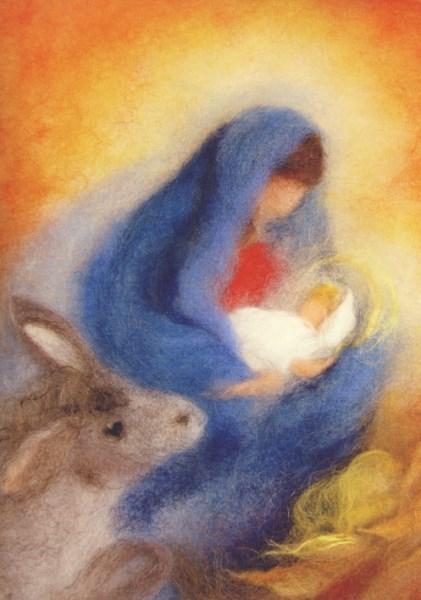 Postcard: Mary's Donkey