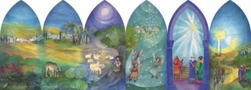 The Christmas Story: Advent Calendar Lantern