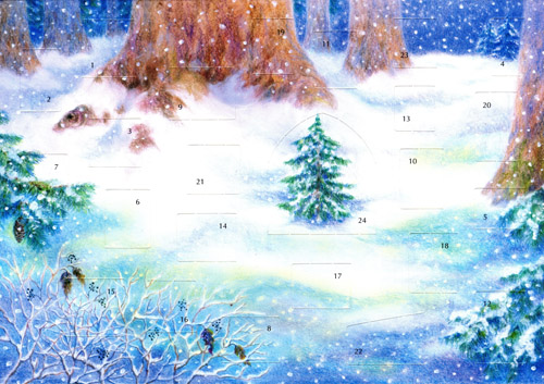 Christmas with the Animals in the Forest: Medium Advent Calendar