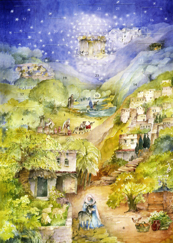 Mary's Little Donkey: C Lesch: Small Advent Calendar