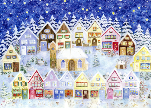 Christmas in the Elves' Village: Small Advent Calendar