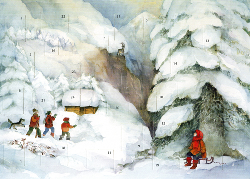 Christmas in the Mountains: Small Advent Calendar