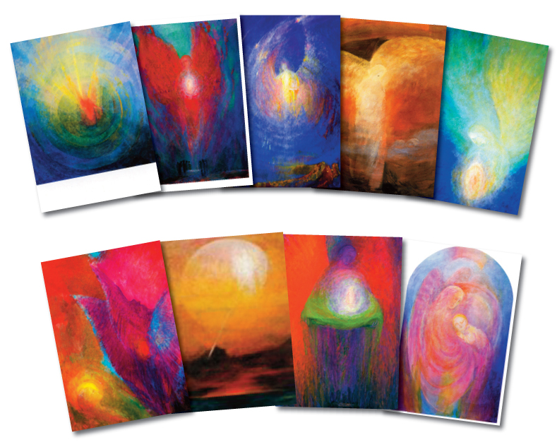 9 Angel postcards by Ninetta Sombart