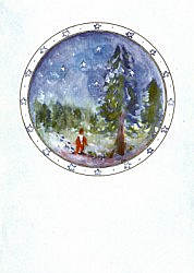 Postcard: Snowing