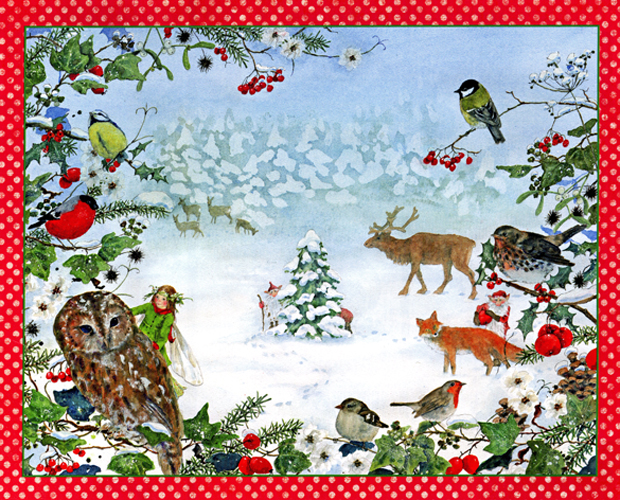 Animals in the Forest: Large Advent Calendar