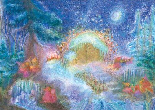 Christmas with the Gnomes in the Forest: Large Advent Calendar