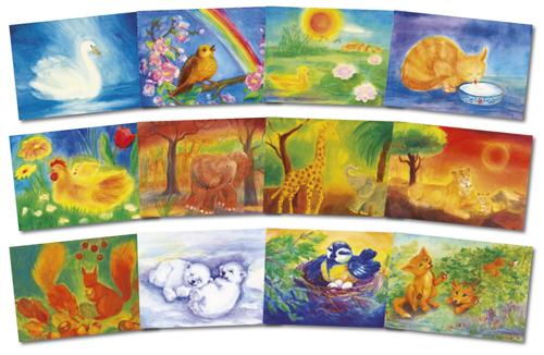 Set of 12 postcards from Dorothea Schmidt and Tatjana Kornetova
