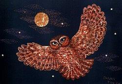 Postcard: Owl at Midnight