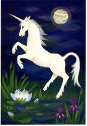 Folded card: Unicorn