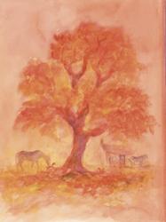 Postcard: Autumn Tree