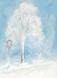 Postcard: Winter Tree