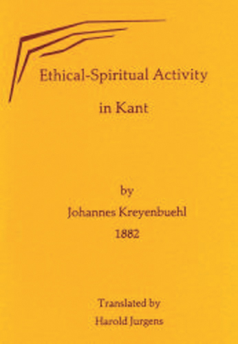 Ethical Spiritual Activity in Kant