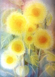 Sun - Flowers: Extra large folded card