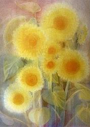 Postcard: Sun - Flowers