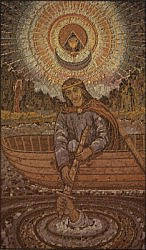 Postcard: Arthur receives his sword