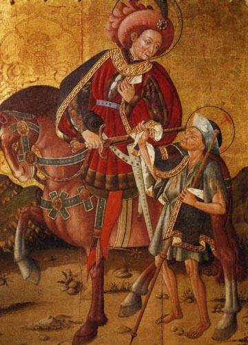 Print: St. Martin Cuts his Cloak