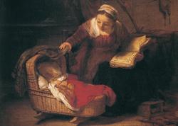 Postcard: Holy Family (1645)