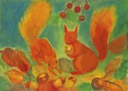 Postcard: Squirrels