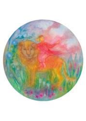Postcard: Riding on a Lion