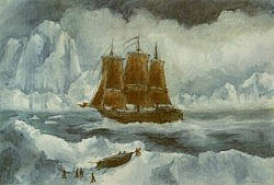 Postcard: Explorers at the North Pole