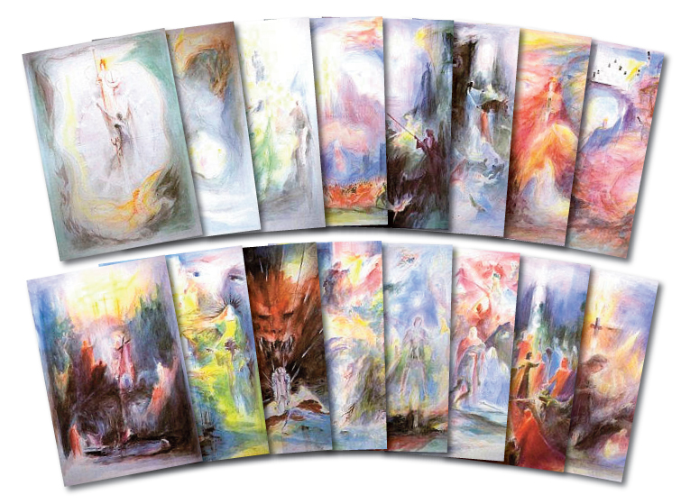 Parzival set of postcards by David Newbatt