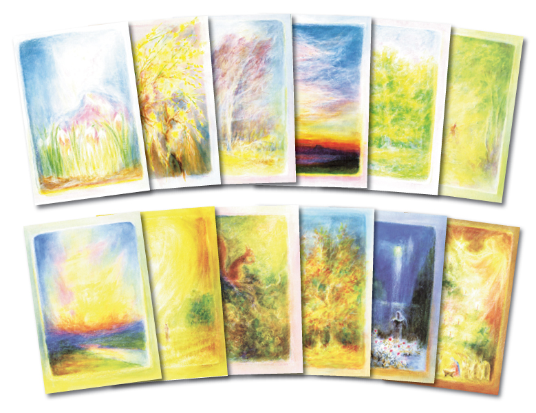 Months of the Year: set of 12 postcards