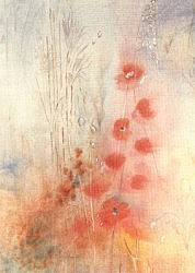 Postcard: Poppies and Grasses