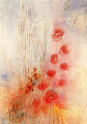 Folded card: Poppies and Grasses