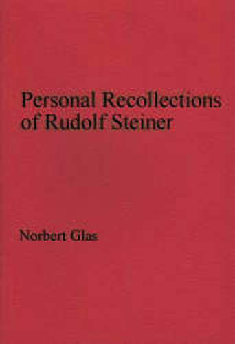 Personal Recollections of Rudolf Steiner