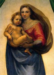 Print: The Sistine Madonna – detail