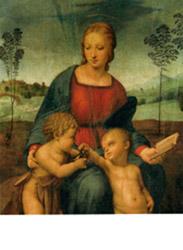 Postcard: Goldfinch Madonna (detail)