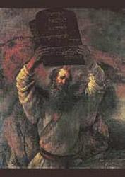 Postcard: Moses and the Ten Commandments