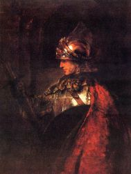 Postcard: Man in Armour