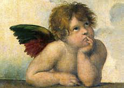 Postcard: Angel from The Sistine Madonna