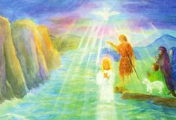 Postcard: Baptism in the Jordan