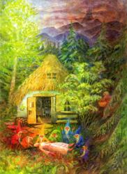 Postcard: Snow White and the Seven Dwarfs