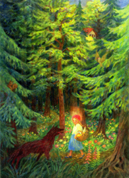 Postcard: Little Red Riding Hood