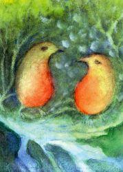 Postcard: Bird conversation