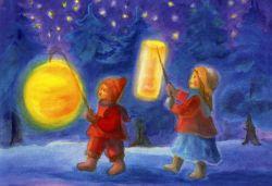 Postcard: Lantern procession