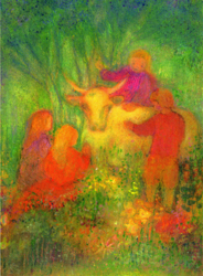 Postcard: Our little cow