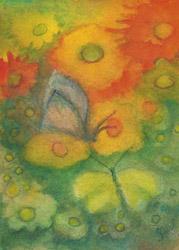 Postcard: Two butterflies