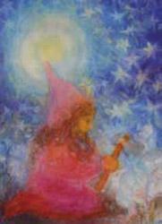 Postcard: Dwarf in twinkling starlight