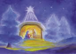 Postcard: The Stable in Bethlehem