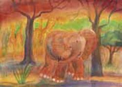 Postcard: Elephant