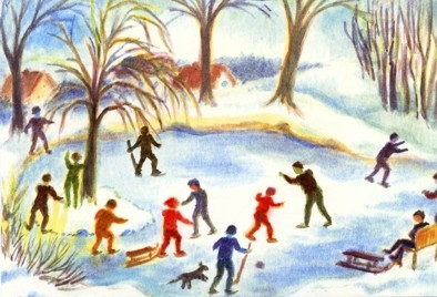 Postcard: Ice skating