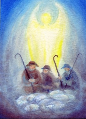 Postcard: Annunciation to the Shepherds
