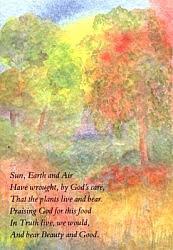 Folded card: Sun, Earth and Air